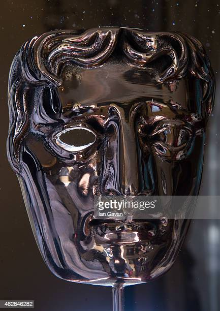Mask sits as a table centrepeice ahead of the British Academy Film Awards at Grosvenor House on February 6 2015 in London England The annual BAFTA's...