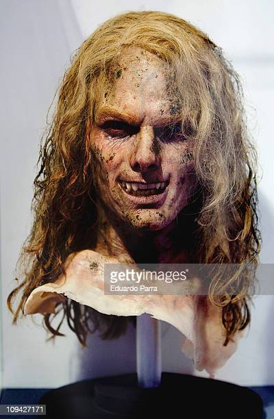 Mask used by Tom Cruise in the movie Interview with the Vampire is displayed on the exhibition 'Fantastic SyFy Objects' at the Royal Tapestry Factory...