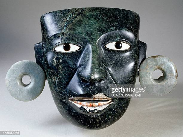 Mask with earrings from Teotihuacan Mexico Aztec civilisation 14th16th century Mexico City Museo Del Templo Mayor
