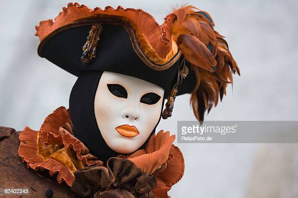 Mask with historical venetian costume at carnival in Venice (XXL)
