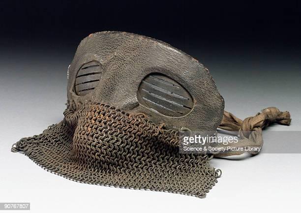 Mask worn by tank crews during WW1.
