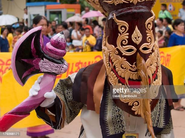 Masked celebrant, Phi Ta Khon Festival, Thailand