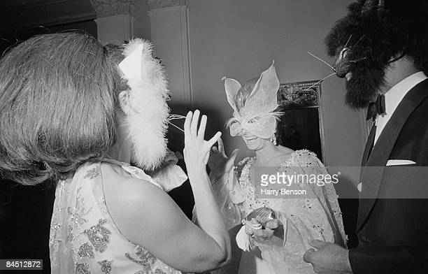 Masked guests at Truman Capote's BlackandWhite Ball in the Grand Ballroom of the Plaza Hotel New York City 28th November 1966
