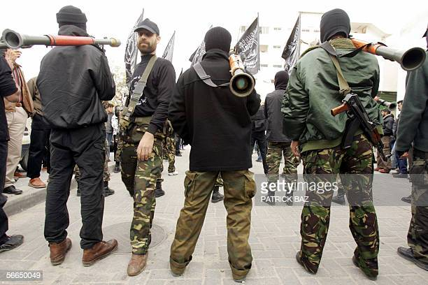 Masked gunmen form the Popular Resistance Committees, an Islamic offshoot from the Palestinian ruling Fatah movement, the Popular Front for the...