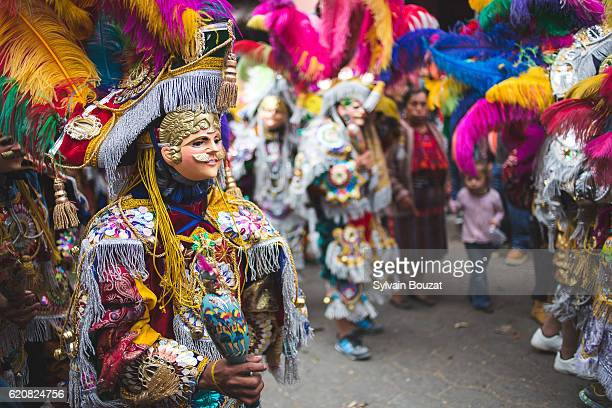 masked man and Traditional festival in Guatemala