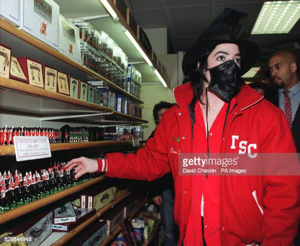 A masked Michael Jackson at Hamleys toy store London