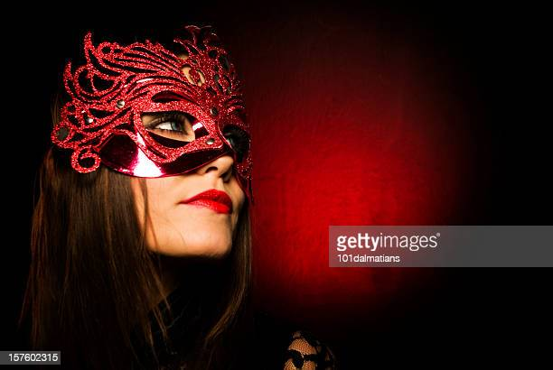 masked woman - mardi gras flashing stock photos and pictures