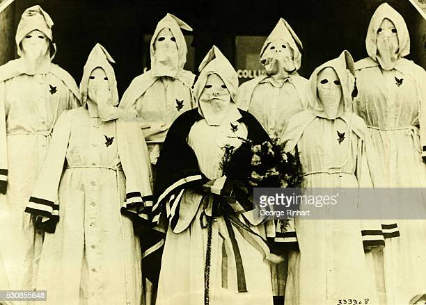 Masked women members of the new Dixie Protestant Women's Political League an order closely modeled after the Ku Klux Klan which has been organized in...
