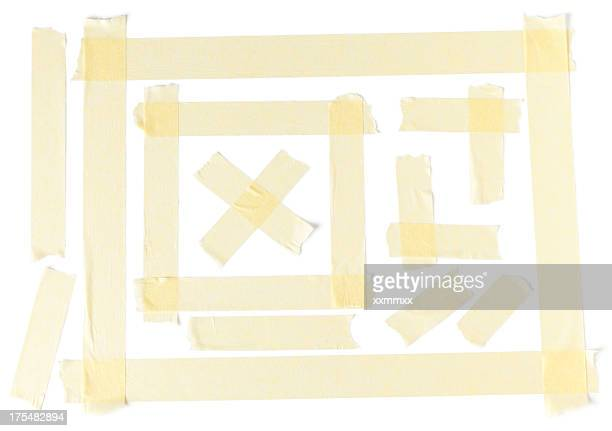 Masking tape design on a plain white paper