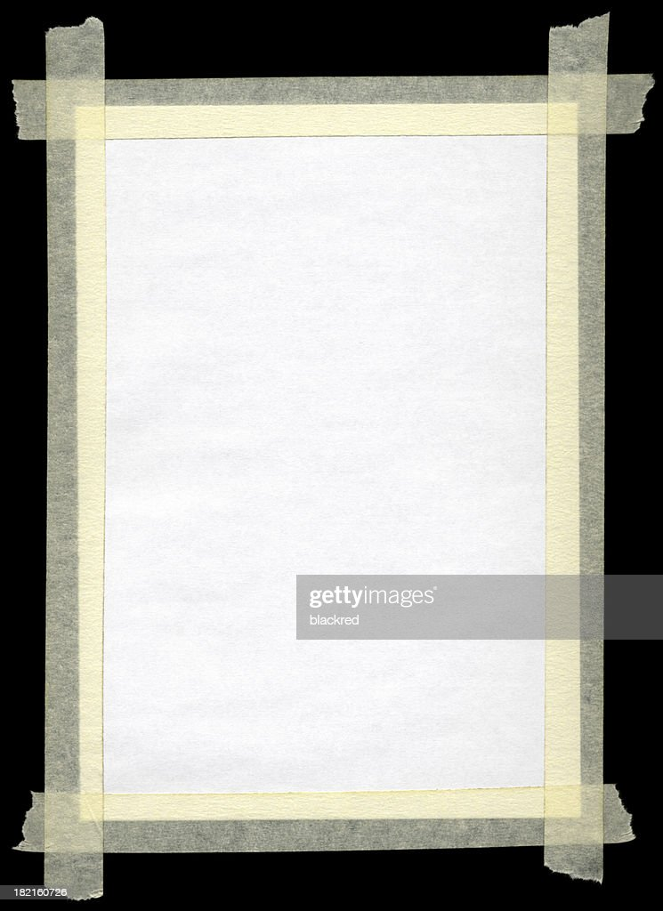 Masking Tape Frame : Stock Photo