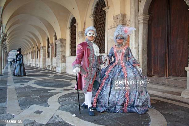 masks at venice carnival 2019 - venice carnival stock pictures, royalty-free photos & images