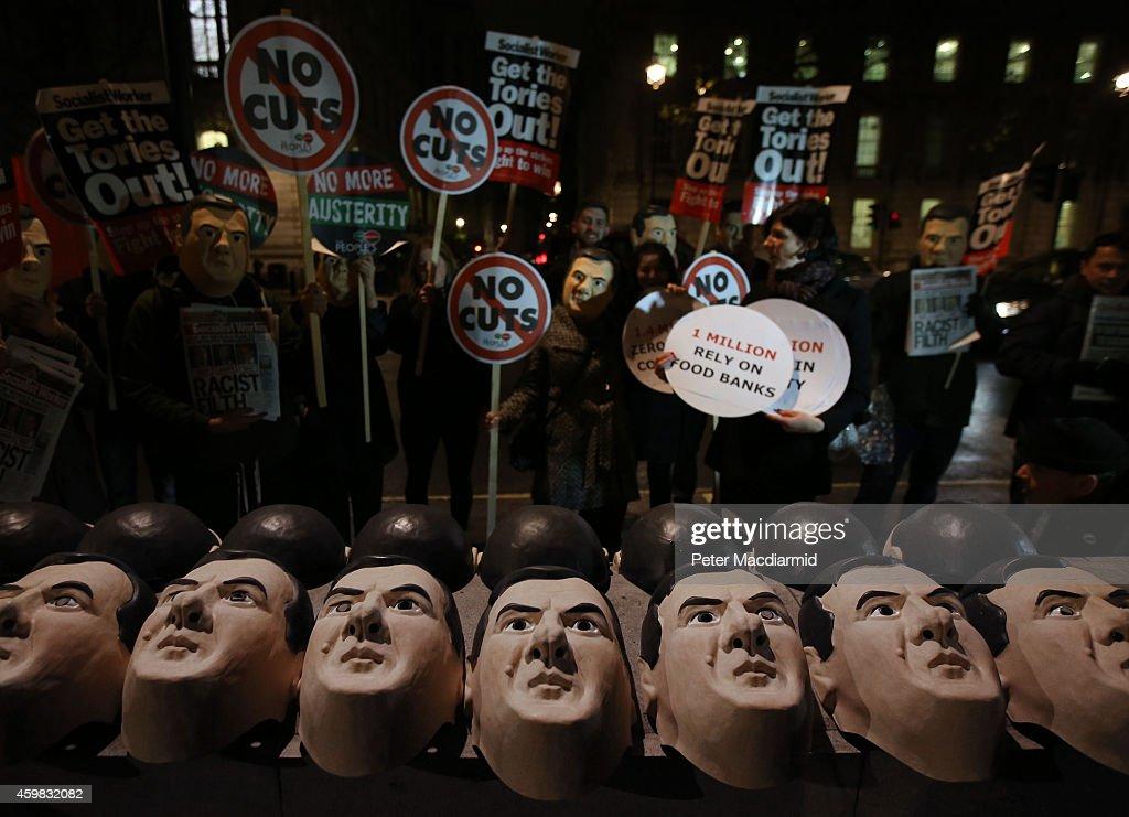Chancellor George Osborne Prepares To Announce His Autumn Statement : News Photo