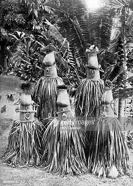 Masks possessing magical qualities Bismarck Archipelago Papua New Guinea 1920 These distinctive masks are worn by members of the Duk Duk society a...