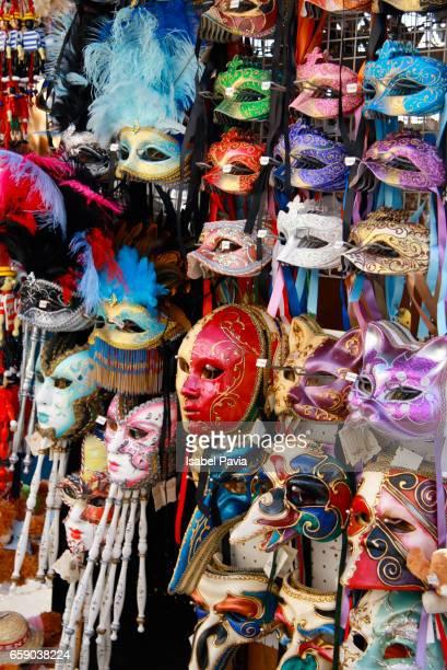 masks, venice, italy - maschere veneziane foto e immagini stock