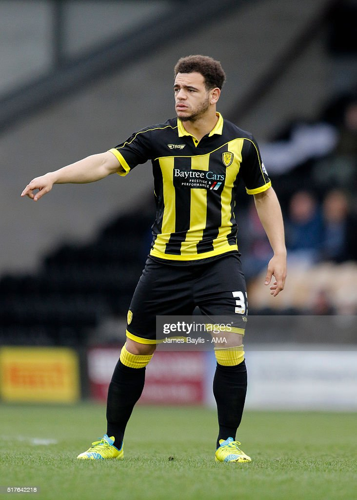 Mason Bennett of Burton Albion during the Sky Bet League One match between Burton Albion and Oldham Athletic at Pirelli Stadium on March 26, 2016 in Burton-upon-Trent, England.