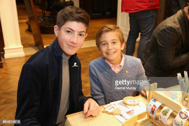 Mason Cook and Parker Bates attend the Brooks Brothers holiday celebration with St Jude Children's Research Hospital at Brooks Brothers Rodeo on...