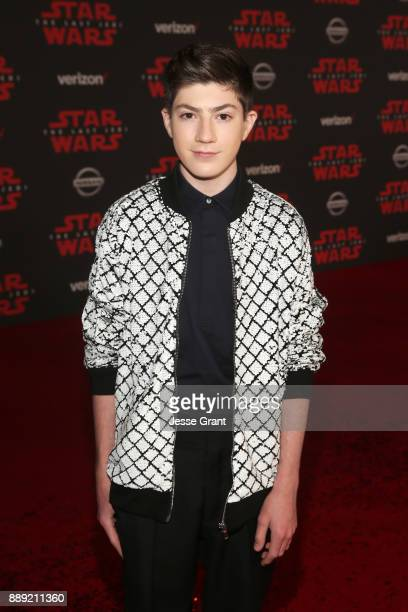 Mason Cook at the world premiere of Lucasfilm's Star Wars The Last Jedi at The Shrine Auditorium on December 9 2017 in Los Angeles California
