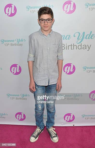 Mason Cook attends Breanna Yde's 13th Birthday Party at Lucky Strike Lanes at LA Live on June 11 2016 in Los Angeles California