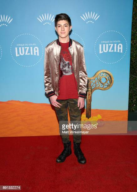 Mason Cook attends Cirque du Soleil presents the Los Angeles premiere event of 'Luzia' at Dodger Stadium on December 12 2017 in Los Angeles California