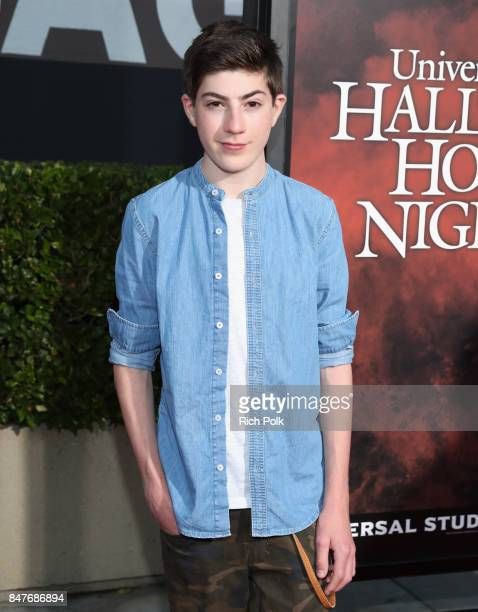 Mason Cook attends Halloween Horror Nights Opening Night Red Carpet at Universal Studios Hollywood on September 15 2017 in Universal City California