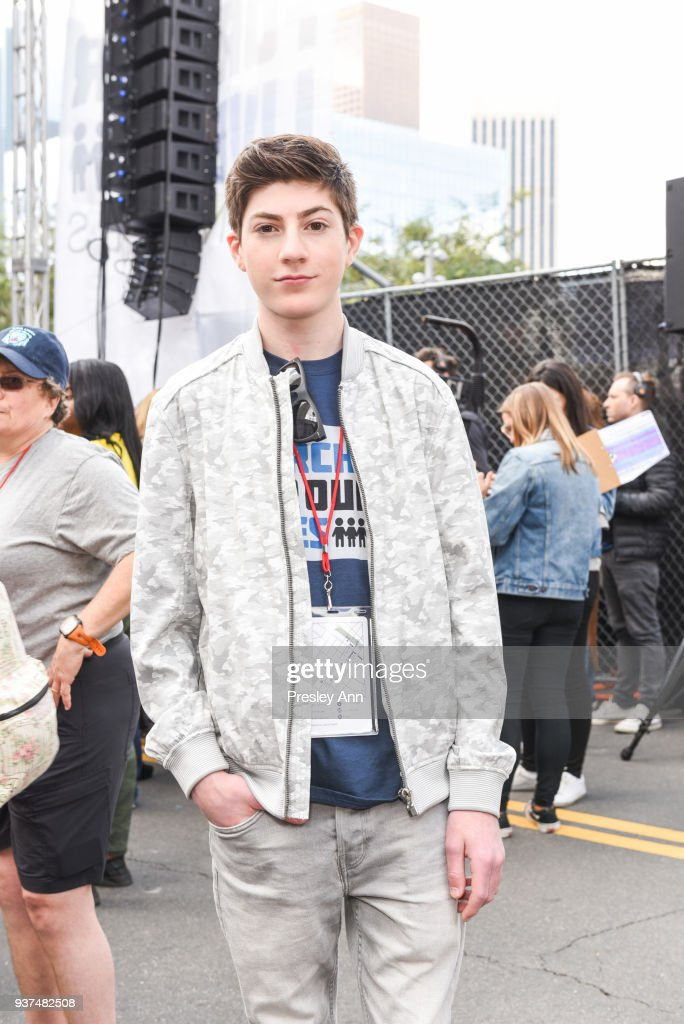 Mason Cook attends March For Our Lives Los Angeles on March 24, 2018 in Los Angeles, California.