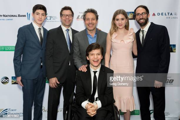 Mason Cook Mark Kunerth John Ross Bowie Honoree Micah Fowler star of ABC's Speechless Kyla Kennedy and Ryan Giarda attends the United Cerebral Palsy...