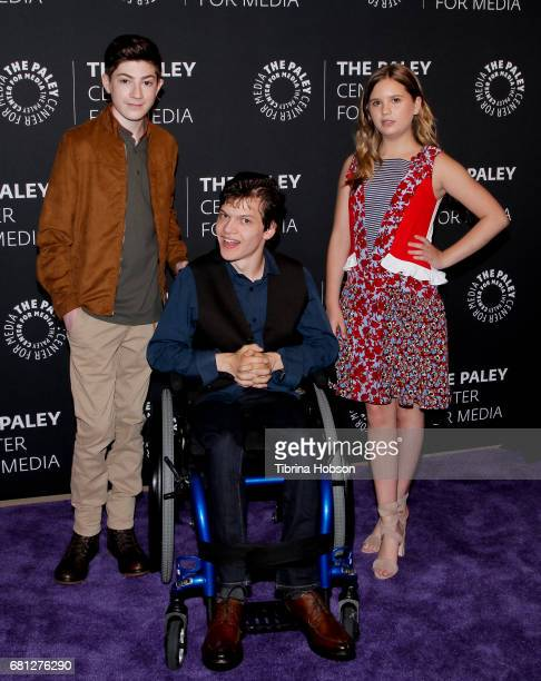 Mason Cook Micah Fowler and Kyla Kenedy attend the 2017 PaleyLive LA Spring Season an evening with 'Speechless' at The Paley Center for Media on May...