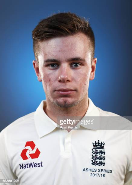Mason Crane of England poses during the 2017/18 England Ashes Squad portrait session at the WACA on November 1 2017 in Perth Australia