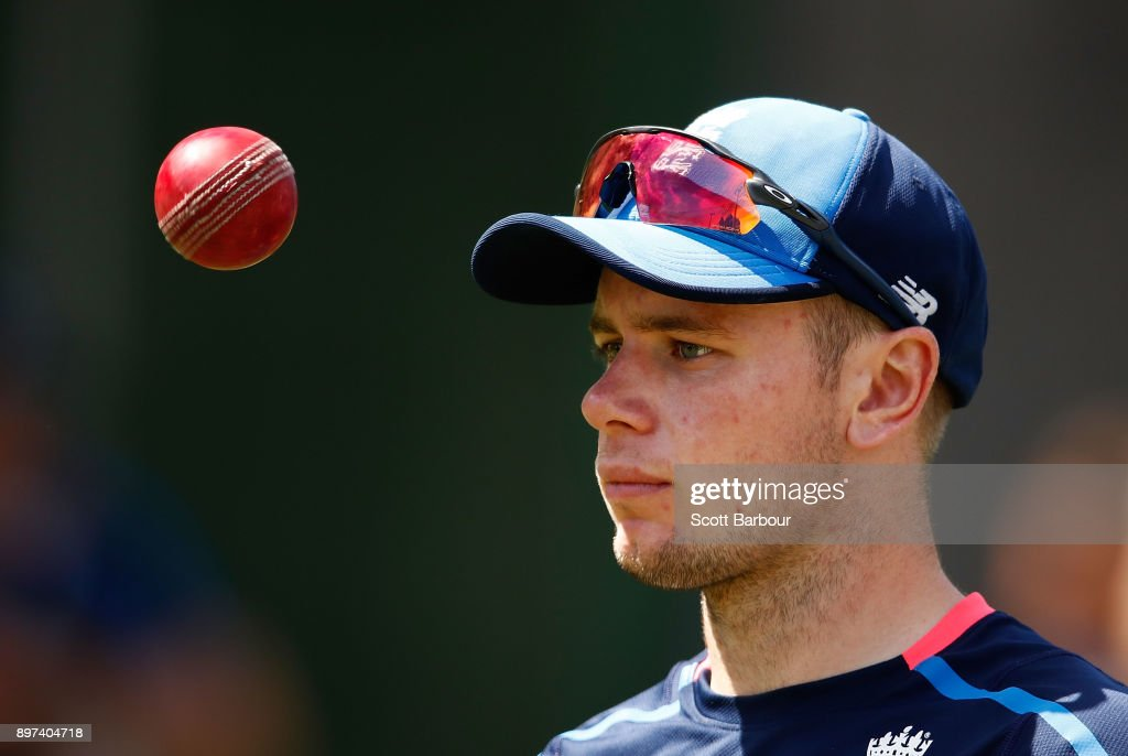 Mason Crane of England prepares to bowl during an England nets session at the Melbourne Cricket Ground on December 23, 2017 in Melbourne, Australia.