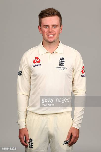 Mason Crane poses during the 2017/18 England Ashes Squad headshots session at the Fraser Suites on November 1 2017 in Perth Australia