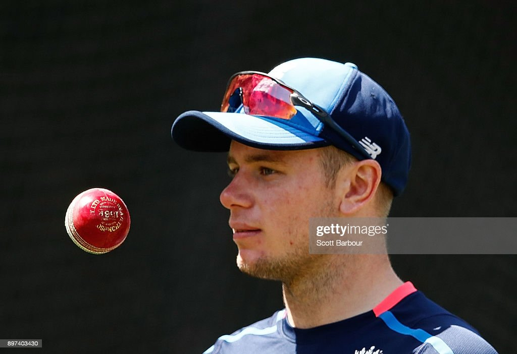 Mason Crane prepares to bowl during an England nets session at the Melbourne Cricket Ground on December 23, 2017 in Melbourne, Australia.