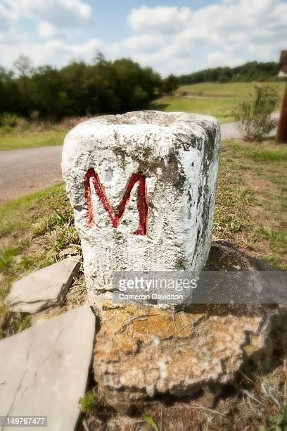 Mason Dixon border stone in West Virginia