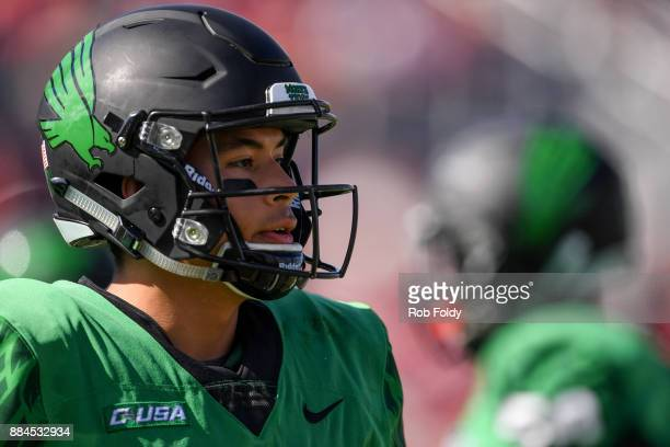 Mason Fine of the North Texas Mean Green looks on during the Conference USA Championship game against the Florida Atlantic Owls at FAU Stadium on...