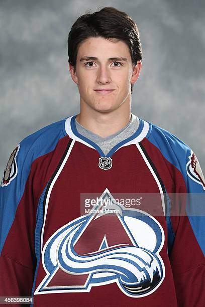Mason Geertsen of the Colorado Avalanche poses for his official headshot for the 20142015 NHL season on September 18 2014 in Denver Colorado