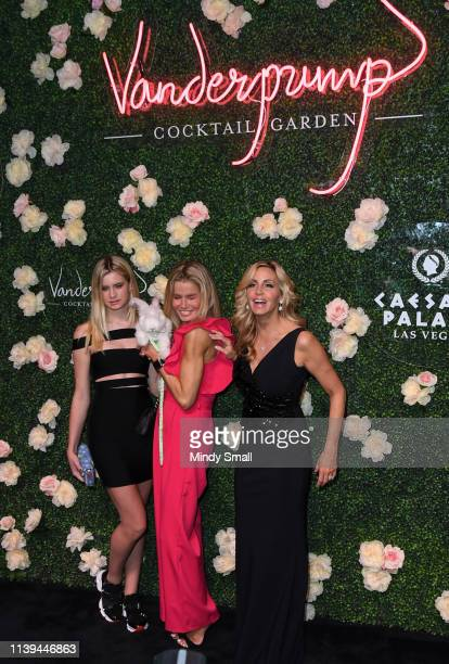 Mason Grammar Kimber Sissons and Camille Grammar attend the grand opening of Vanderpump Cocktail Garden at Caesars Palace on March 30 2019 in Las...