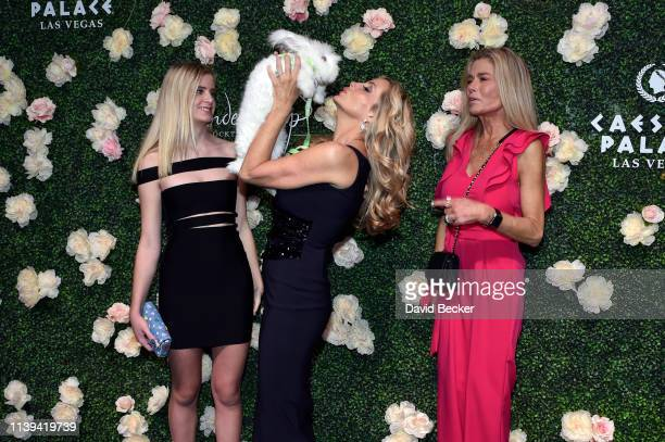 Mason Grammer Camille Grammar and Kimber Sissons attend the grand opening of Vanderpump Cocktail Garden at Caesars Palace on March 30 2019 in Las...