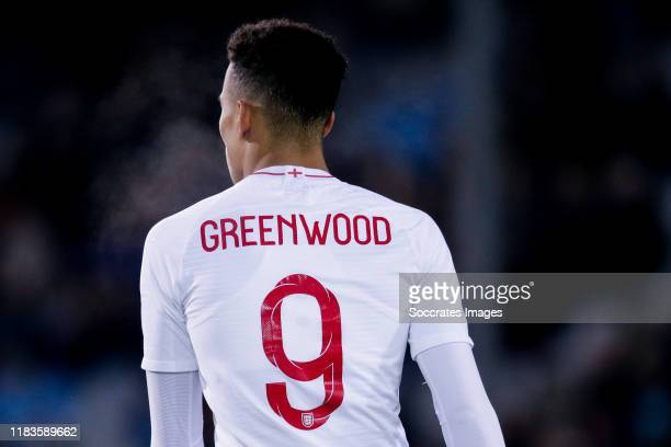 Mason Greenwood of England U21 during the U21 Men match between Holland U21 v England U21 at the De Vijverberg on November 19, 2019 in Doetinchem...