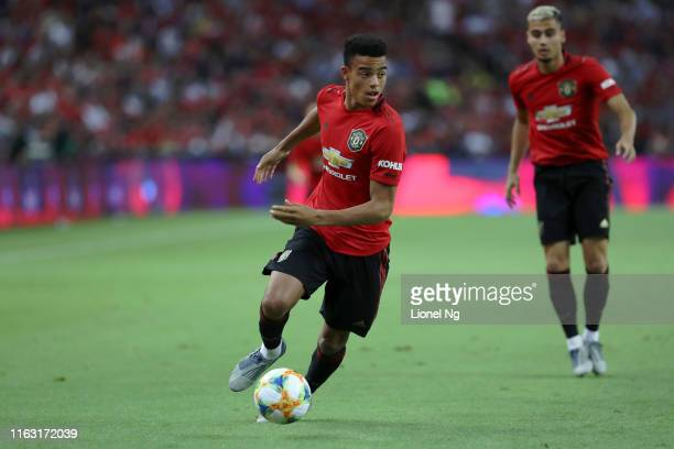 Mason Greenwood of Manchester United in action during the 2019 International Champions Cup match between Manchester United and FC Internazionale at...