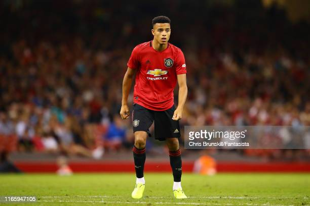 Mason Greenwood of Manchester United in action during the 2019 International Champions Cup match between Manchester United and AC Milan at...