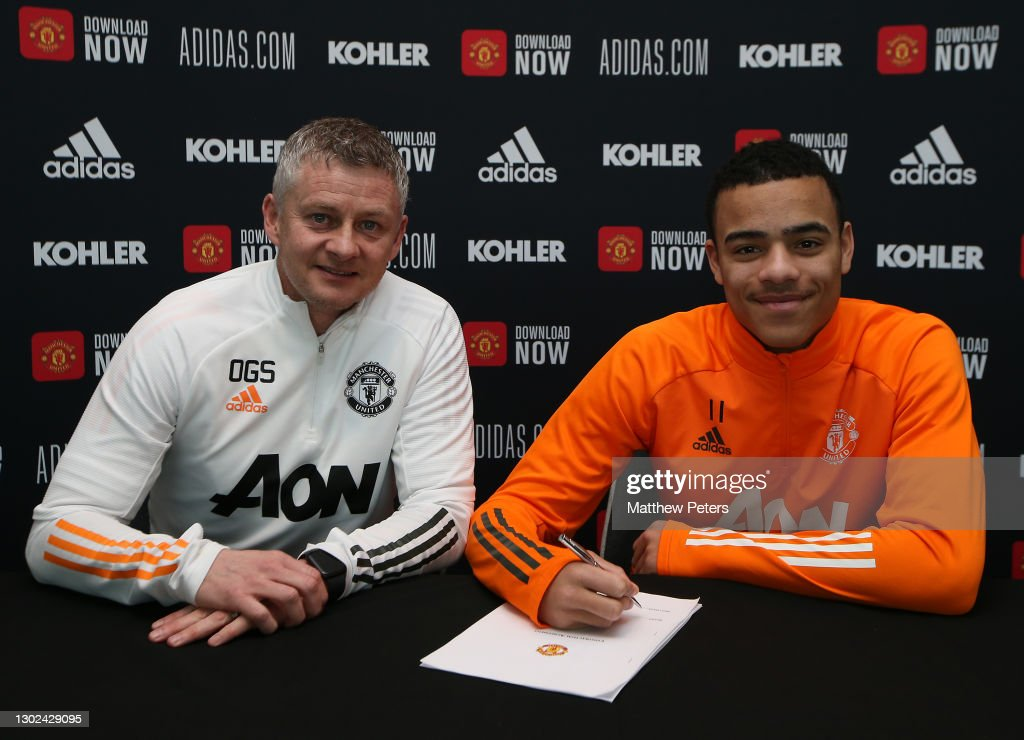Mason Greenwood Signs a New Contract with Manchester United : News Photo