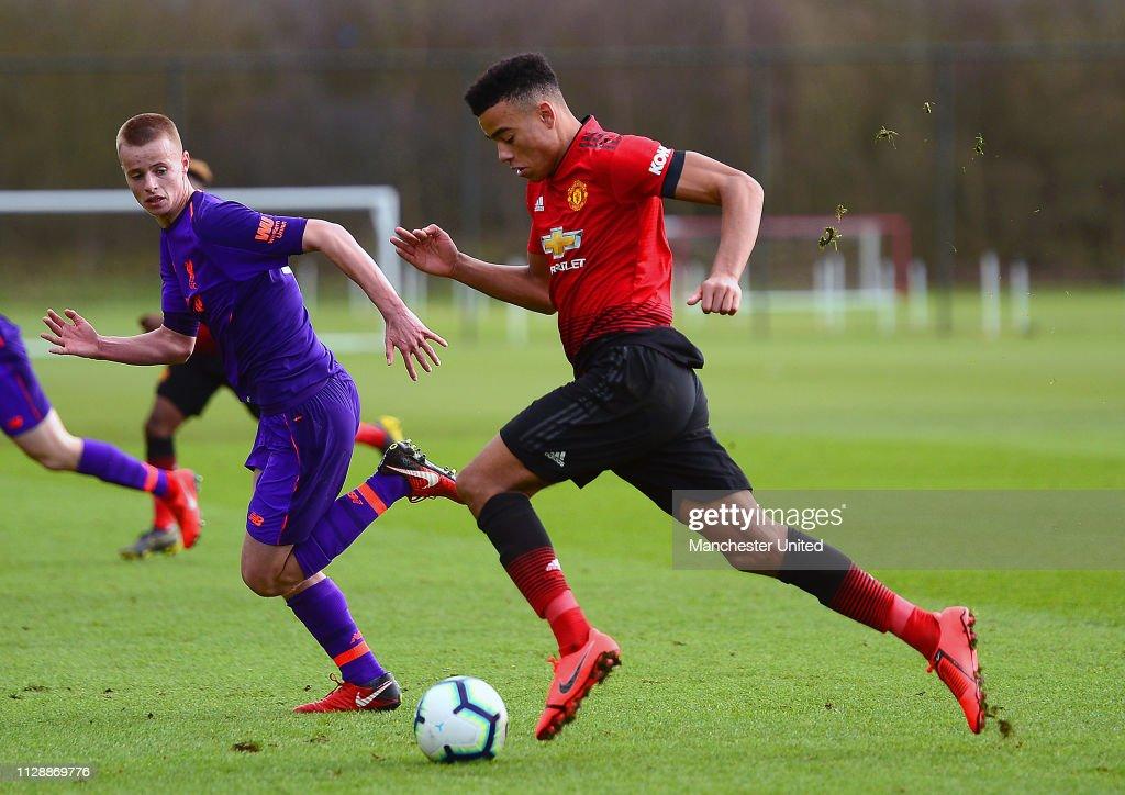 GBR: Manchester United v Liverpool: U18 Premier League
