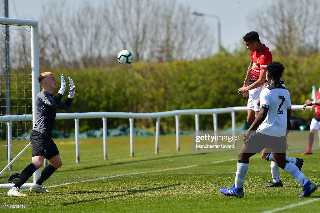 GBR: Derby County v Manchester United: U18 Premier League