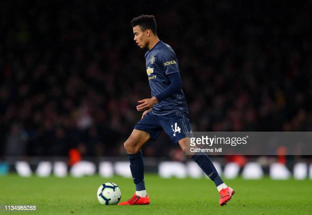 Mason Greenwood of Manchester Unitedd during the Premier League match between Arsenal FC and Manchester United at Emirates Stadium on March 10 2019...