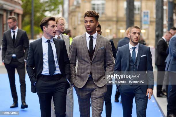 Mason Holgate and Leighton Baines before The Dixies end of season awards at the Royal Liverpool Philharmonic Hall on May 1 2018 in Liverpool England