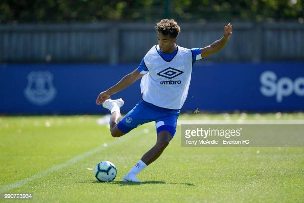 Mason Holgate during the Everton training session at USM Finch Farm on July 3 2018 in Halewood England