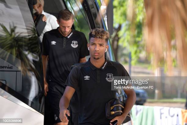 Mason Holgate Everton before the Algarve Cup match between Everton and Lille on July 21 2018 in Faro Portugal