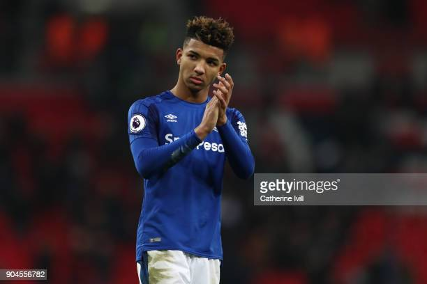 Mason Holgate of Everton during the Premier League match between Tottenham Hotspur and Everton at Wembley Stadium on January 13 2018 in London...