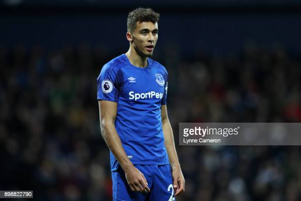 Mason Holgate of Everton during the Premier League match between West Bromwich Albion and Everton at The Hawthorns on December 26 2017 in West...