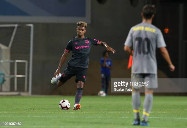 Mason Holgate of Everton FC in action during the Algarve Cup match between FC Porto and Everton FC at Estadio Algarve on July 22 2018 in Faro Portugal