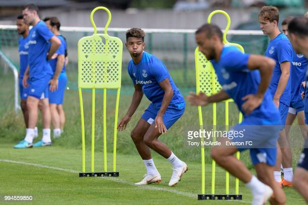 Mason Holgate of Everton in action during the Everton training session on July 9 2018 in Bad Mitterndorf Austria